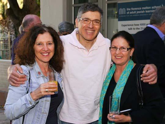 3 people at Melton Alumni Ambassadors launch