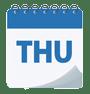 Thursday calendar icon