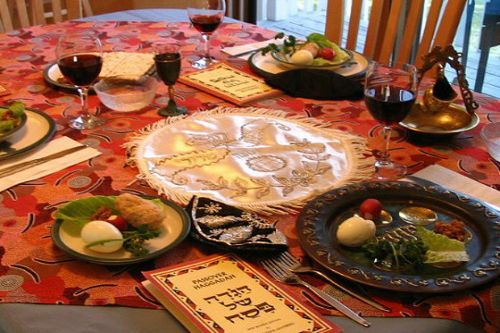 A Seder table